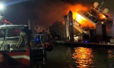Marc Anthony'nin 120 metrekarelik yatı yandı
