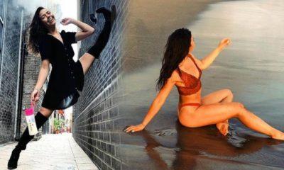 Alman dansçı Vanessa Bauer antrenman sırasında yere düştü