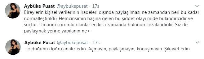 Genç oyuncu Aybüke Pusat'tan Aslı Bekiroğlu'na destek