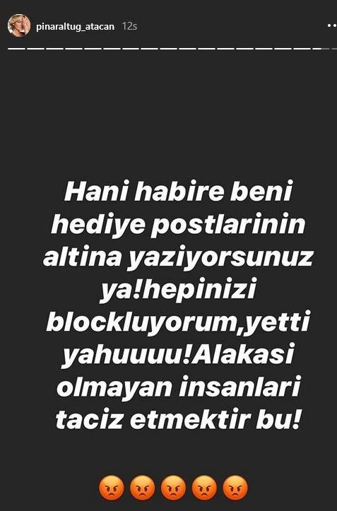 Pınar Altuğ Atacan'ın 'Taciz' isyanı