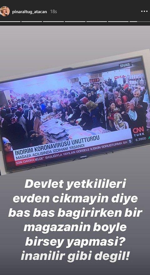 Pınar Altuğ haber bültenindeki görüntüye isyan etti