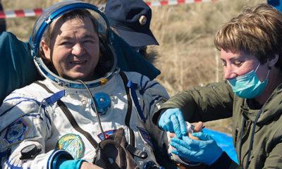 Uluslararası Uzay İstasyonu'ndan 2 astronot ve 1 kozmonot dünyaya geri döndü