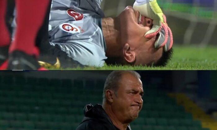 Galatasaray'da Muslera sakatlanarak oyundan çıktı