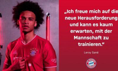 Bayern Münih, Sane'yi resmen açıkladı