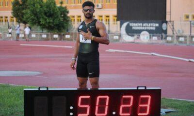 Milli Atlet Sinan Ören 13 yıllık rekoru kırdı