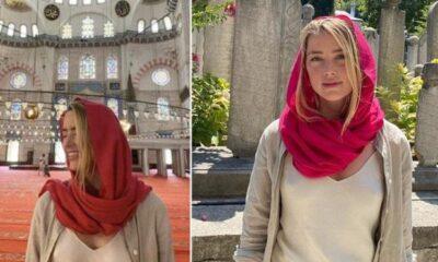 Camiye sütyensiz giren Amber Heard, sosyal medyada linç kurbanı oldu