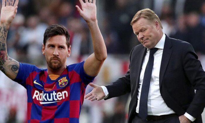 Messi'den Ronald Koeman'a şok cevap