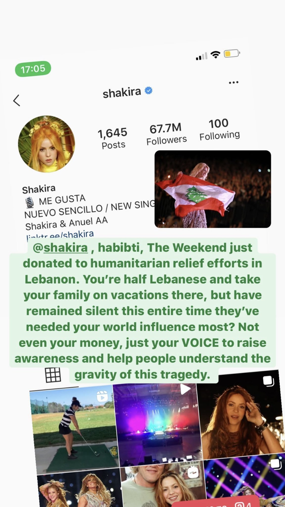 Eski porno yıldızı Mia Khalifa, Beyrut patlamasına sessiz kalan Shakira'ya isyan etti