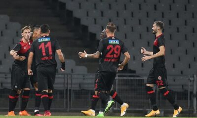 Lyon yetkilileri Karagümrük'lü yıldızları stadda izledi
