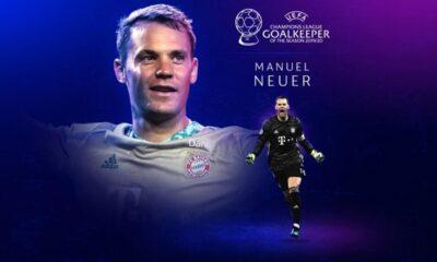 Şampiyonlar Ligi'nde yılın kalecisi Manuel Neuer