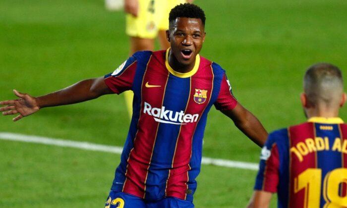 Barcelona'da Ansu Fati Villarreal maçına damga vurdu