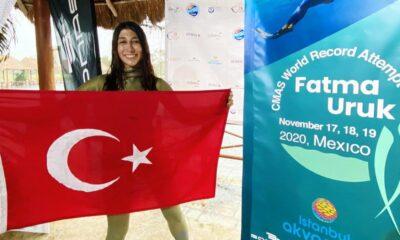 Fatma Uruk'tan 3 günde 3 dünya rekoru