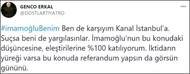 Genco Erkal'dan İmamoğlu'na soruşturmaya tepki: Suçsa beni de yargılasınlar