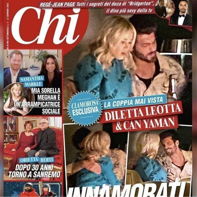 İtalyan paparazziler görüntüledi! Can Yaman ile Diletta Leotta aşk sarhoşu