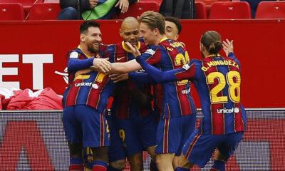 Barcelona deplasmanda Sevilla engelini aştı