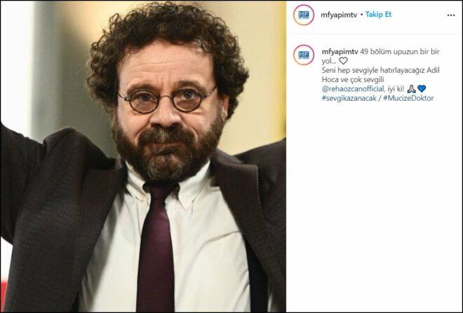 Mucize Doktor dizisinde ayrılık: Reha Özcan veda etti