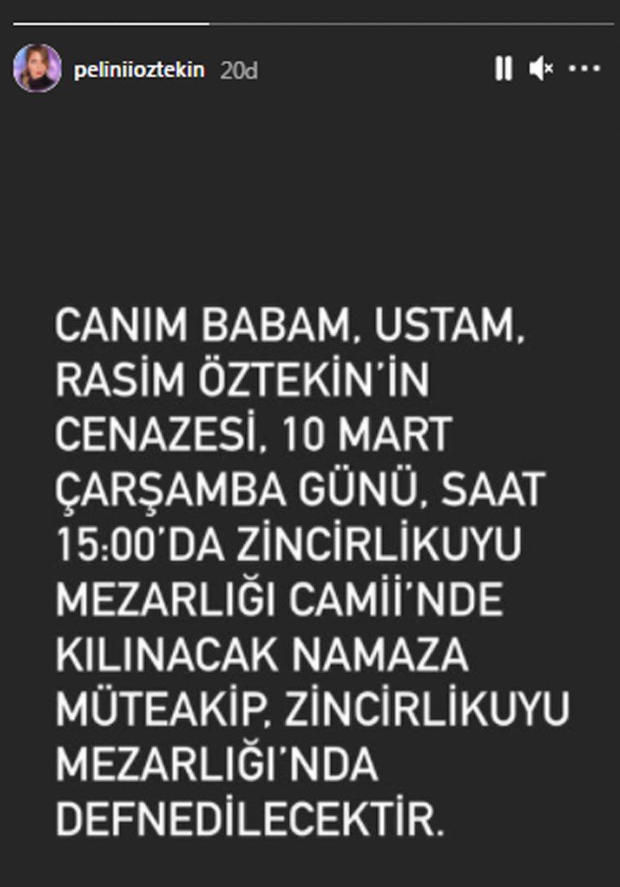 Rasim Öztekin'in cenaze töreni detayları belli oldu