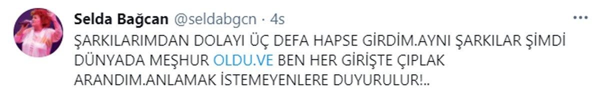 Selda Bağcan'dan AKP'li Zengin'e yanıt