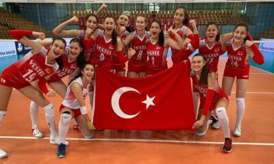 16 Yaş Altı Kız Milli Voleybol Takımı Portekiz'i 3-1 ile geçti
